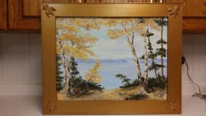 J.Foster antique landscape oil painting