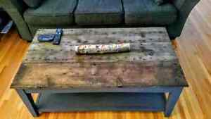 For sale beautiful refinished Barnwood coffee table