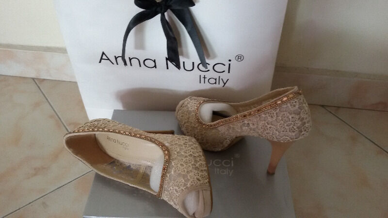 LADIES FLAT-HIGH HEEL SHOES (for wedding) AT HALF PRICE (buy 1 get 2 free) - ANNA NUCI MADE IN ITALY