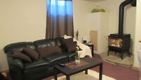 Spacious partially furnished basement flat