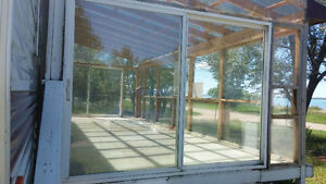 2 Patio Doors -3 ft Window- Plexiglass -Roof Trusses