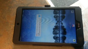"""LG G Pad F2 8.0"""" Tablet with brand new leather case"""
