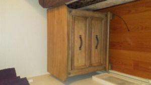 Matching hardwood bedroom set
