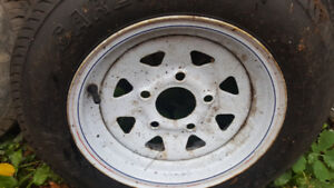 Trailer tires and rims size as posted on pictures