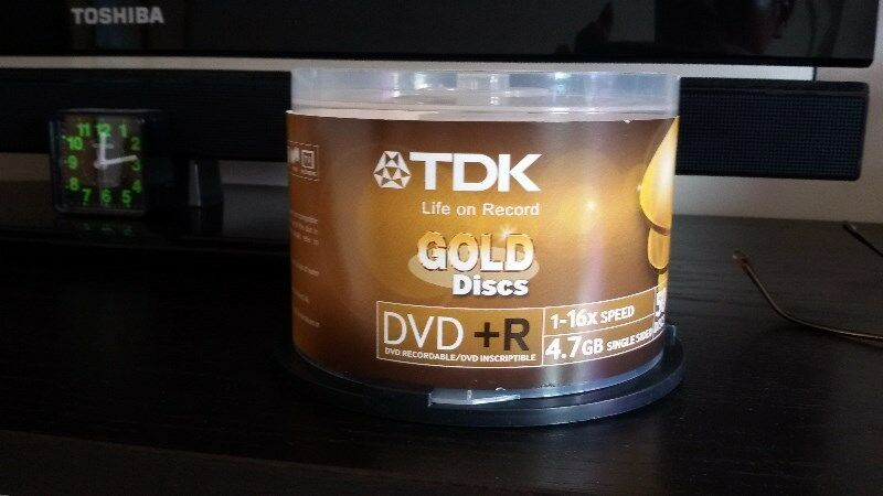 NEW TDK empty gold dvd+R discs at less than half price