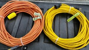 100 FOOT AND 81 FOOT 3 PRONG OUTDOOR  EXTENSION CORDS