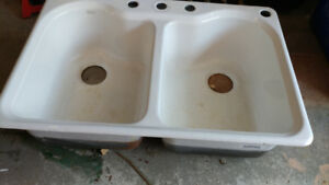 Kohler Cast Iron double sink