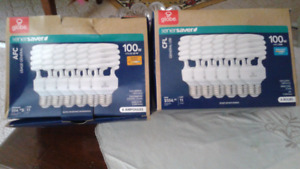 GLOBE enersaver  100w bulbs.  Uses 23w
