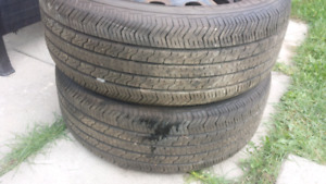 2 all season tires with steel rims dodge caliber