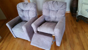 *** Beige cloth kids recliner chairs***