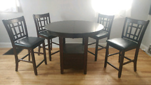Dining room table set Bar style