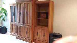 3 peice pine entertainment cabinets