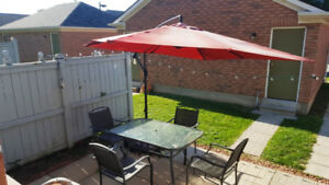 Patio Furniture and Cantilever Parasol