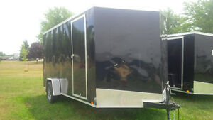 7 BY 14 SINGLE AXLE LOOK ENCLOSED TRAILER London Ontario image 4