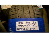 315 35 21 HANKOOK VENTUS S1-EVO TYRES X2 £180 INC FIT N BAL OPN 7 DYS