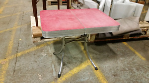 Great vintage chrome table