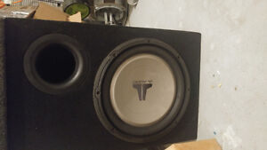 JL 12inches subwoofer and JBL amp