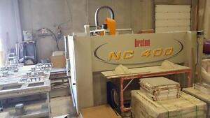 Breton NC 400 dual table granite, marble counter top CNC machine