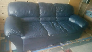 Genuine leather couch delivery included