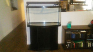47 GALLON BOW FRONT AQUARIUM WITH STAND