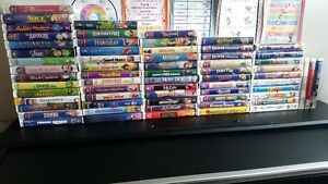 VHS Disney Movies & other movies (64 Total)