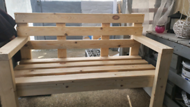Strong handmade bench
