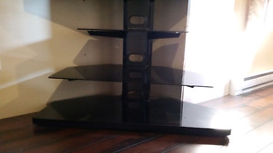 3 Glass Panel TV Stand with FREE Samsung tv (not working)