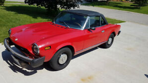 1978 Fiat spider 124. 1800.  Very well taken care of .   ma