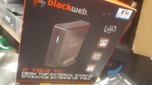 Blakweb 2 TB external hard drive. new in box