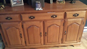 oak kitchen hutch