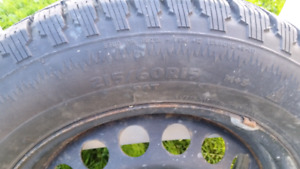 Set of Four Winter Tires and Rims in Great Condition- 215/60/R15