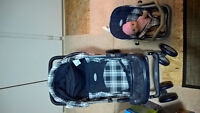 Doll stroller and doll car seat unit