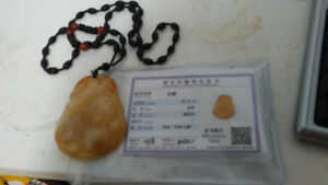 Jade wisdom and prosperity necklace real!