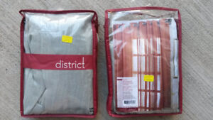 Curtains - New Como Grommet Panel by District & another set