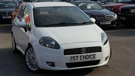 2008 FIAT GRANDE PUNTO SPORTING T-JET 16V JUST 32000 MILES AND FSH HATC