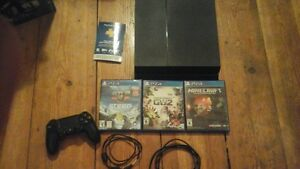 PS4 Console with 1 controller and  3  games.