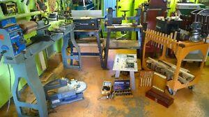 Lot d'outils et accessoires pour menuisier ébéniste