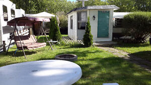 ROULOTTE CAMPING ROUVILLE  A VENDRE