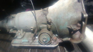 3 speed with Overdrive 305 350 small block transmission.
