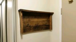 Rustic/antique coat hanger