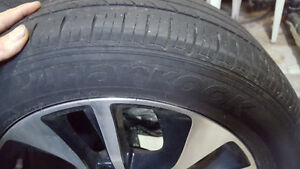Selling 4 tires with snow rims 205/55/16r London Ontario image 2