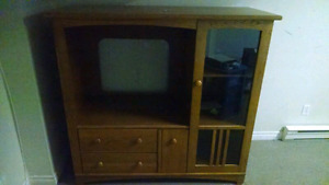 Large Oak Entertainment/TV stand