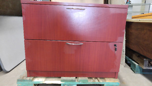 WOOD-LIKE FINISH LATERAL FILE CABINETS - 2 Drawer