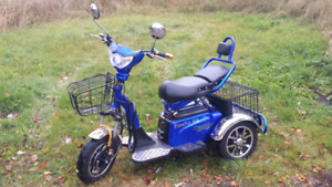Tricycle electric scooter