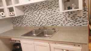 Sink faucet counter top