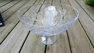 Brand New lead crystal 12' footed punch bowl