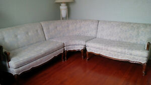 Vintage couch & side chair