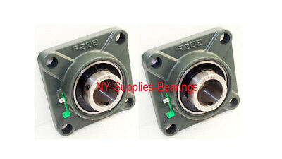 Ucf208-24 Pillow Block Flange Bearing 1-12 Bore 4 Bolt Solid Base 2pcs