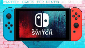 WANTED: Nintendo Switch Games (Sonic Mania, Kirby, etc. )