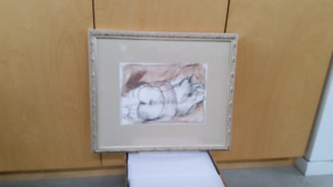 Framed Sketch/Drawing from Local Canadian Artist